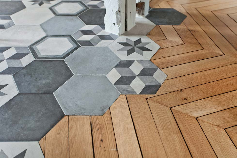 Jonction carrelage parquet for Laitance de ciment sur carrelage