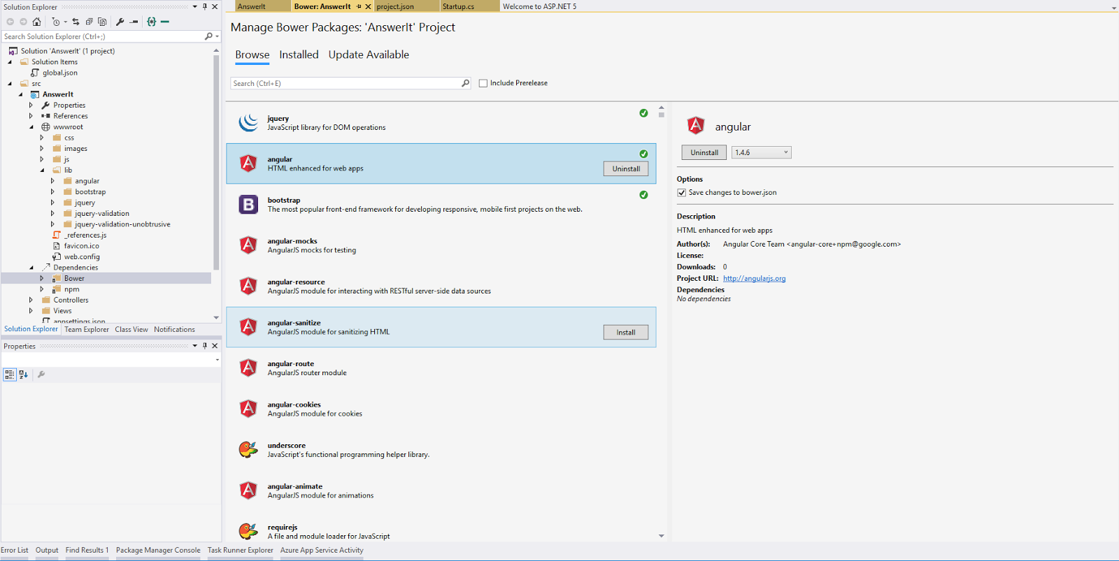 AngularJS and ASP net Core 1 0 JumpStart (Part – III)