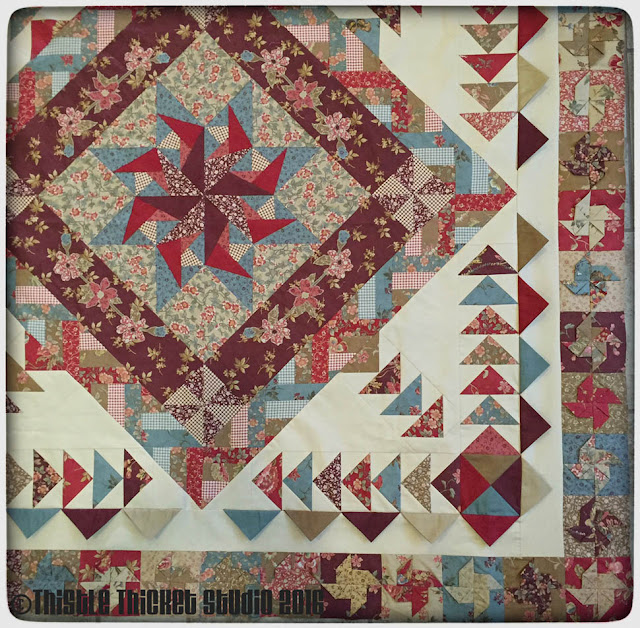 Thistle Thicket Studio, medallion quilt, quilt guild challenge, 3D pinwheels