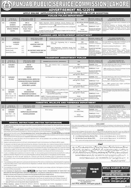 Jobs in Punjab Police New Jobs 2019 Apply Online