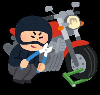 バイク泥棒のイラスト