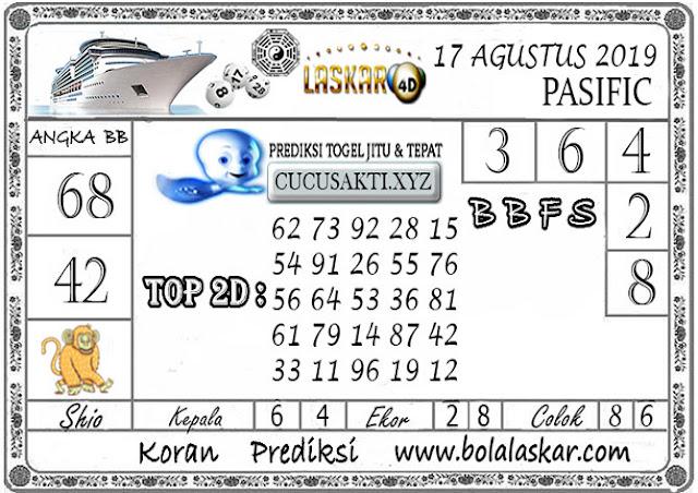 Prediksi Togel Jitu PASIFIC LASKAR4D 17 AGUSTUS 2019