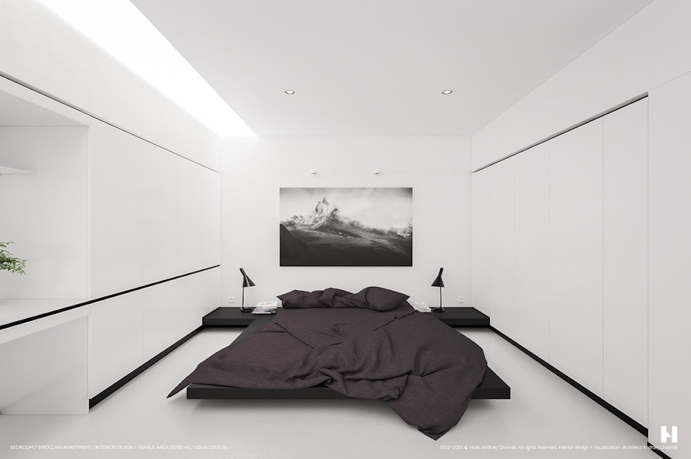 white-bedroom-with-dark-linens