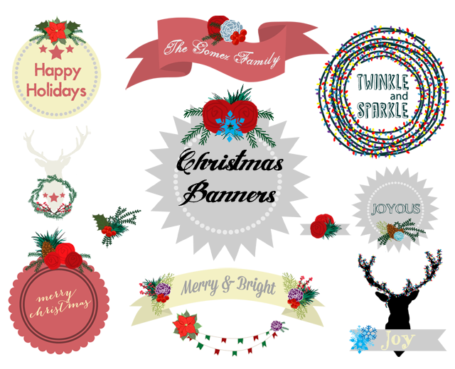 Free Christmas Banners Clip Art Download - A Simple Pantry