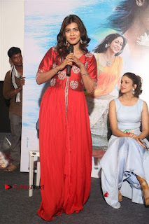 Actress Heba Patel Latest Stills in Red Dress at Mister Movie Trailer Launch Event  0029.jpg
