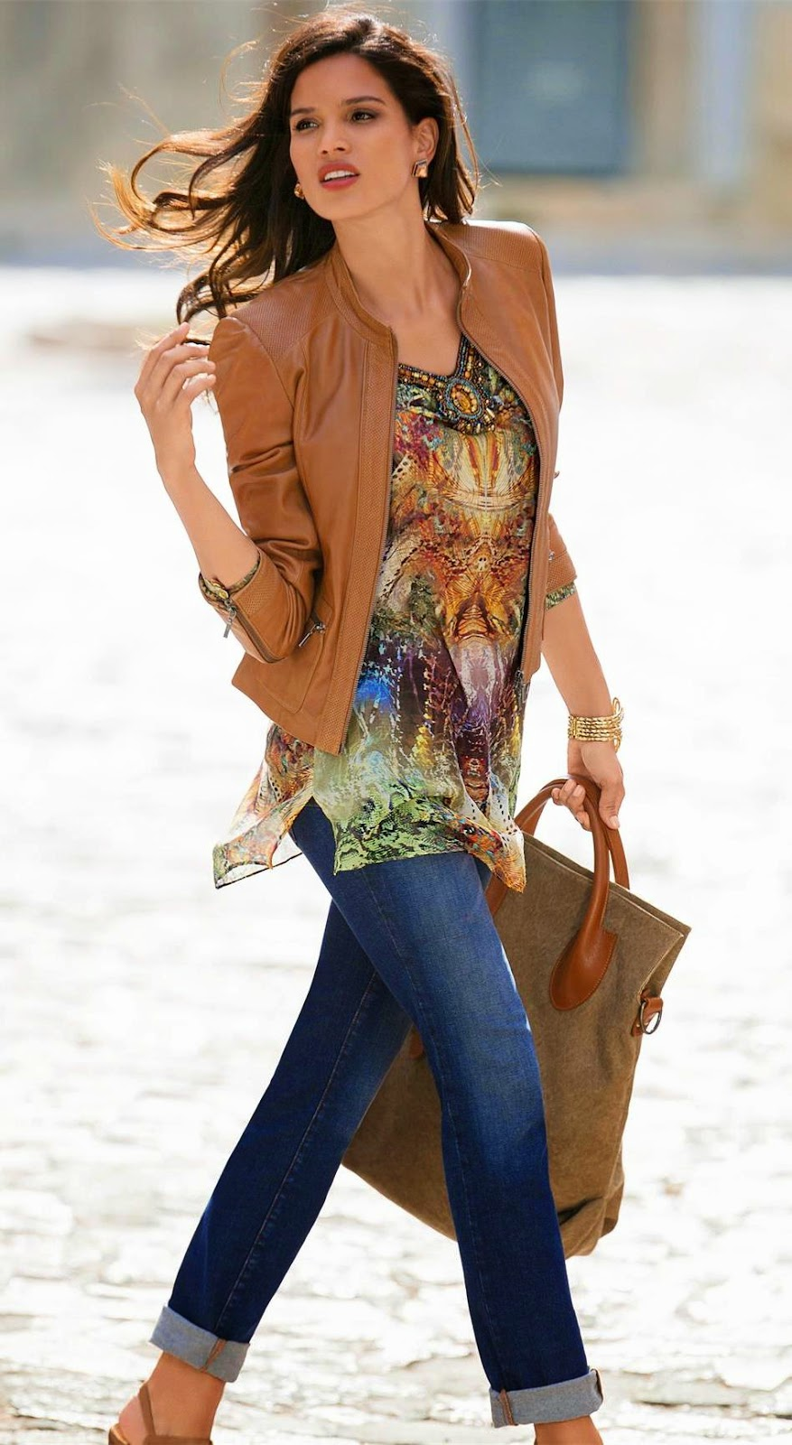 Madeleine Cognac Leather Jacket