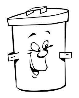 trash can coloring pages - photo#14