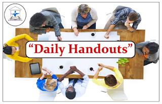 """DAILY HANDOUTS""- Part-II"