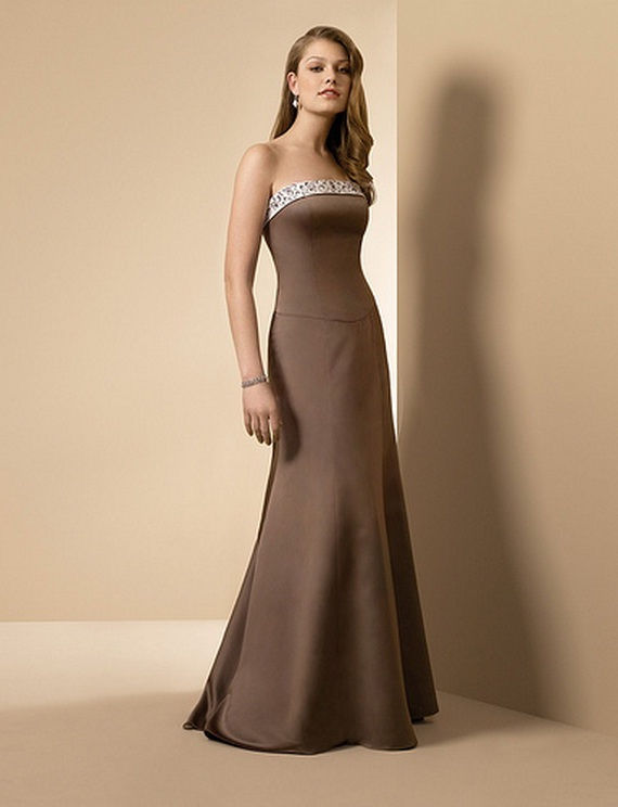 bridesmaid dresses: Elegant Brown Bridesmaid Dresses