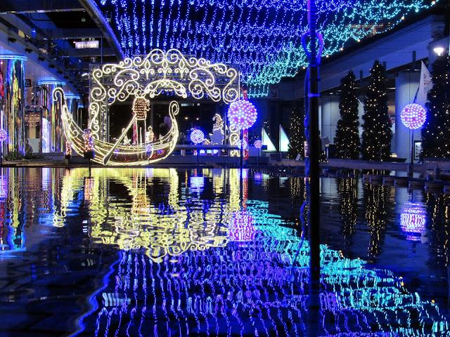 Iluminación navideña inspirada en Venecia en el Tokyo Dome