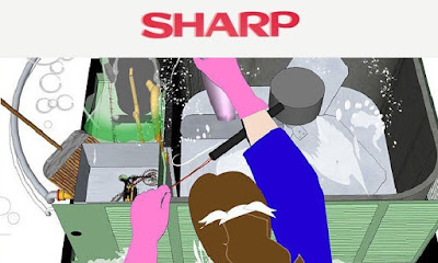 كيفية تنظيف التكييف الاسبليت شارب , كيفية صيانة تكييف شارب