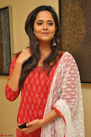 Anasuya Bharadwaj in Red at Kalamandir Foundation 7th anniversary Celebrations ~  Actress Galleries 019.JPG