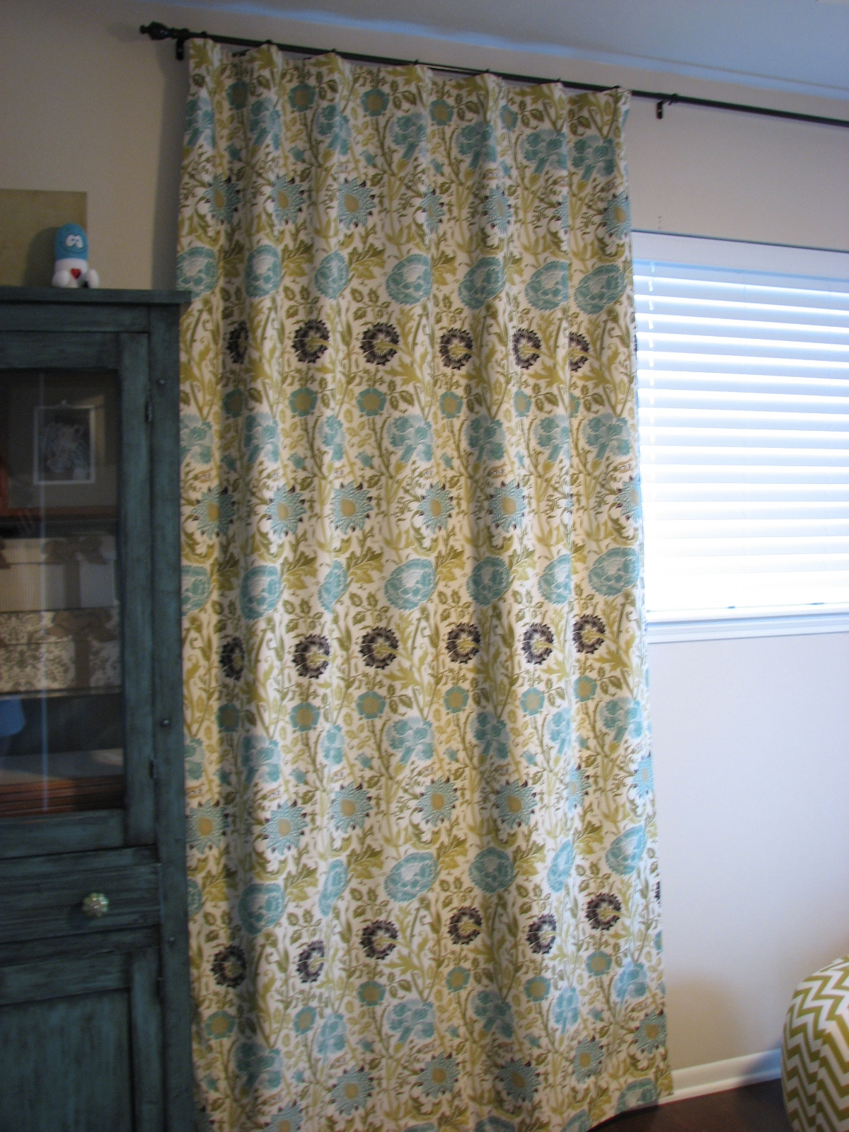 Our Nesting Ground Lined Curtain Panels And Tie Back Tutorial