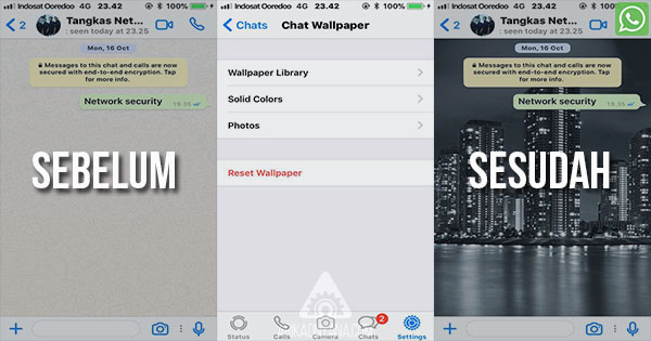 Cara Merubah Wallpaper atau Background Chat di Whatsapp