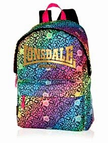 Londale Neon Leopard Print Backpack