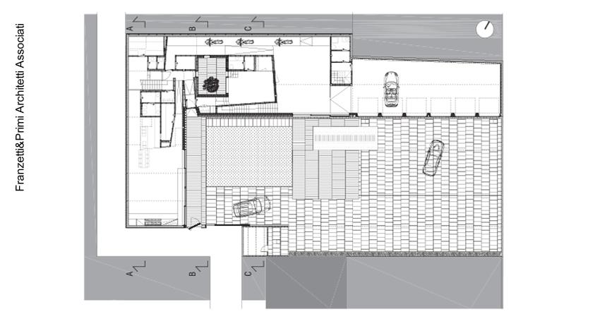 Plano de planta baja de casa y salón