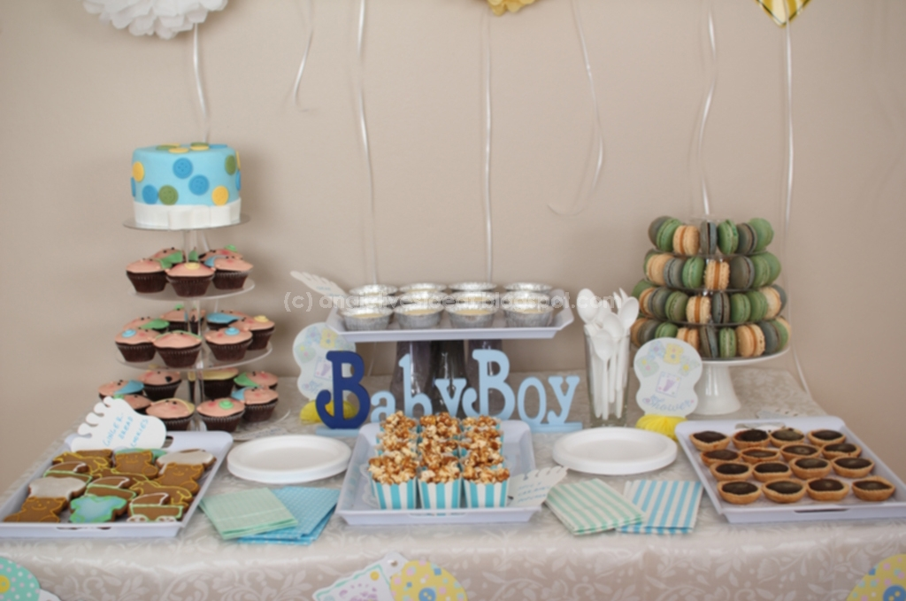 Angie Lives To Eat And Cook Dessert Table For A Baby Shower