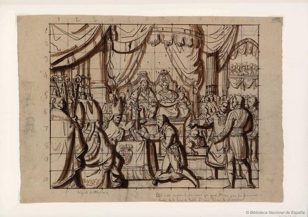 Duques De Riansares 1833 Jura De Isabel Ii Como Princesa De Asturias