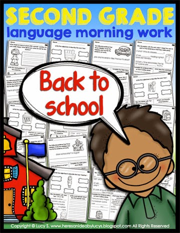 Second Grade Language Morning Work: Back-to-school