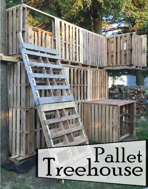 Kammy 39 s korner pallet treehouse creative but blogless for Pallet tree fort