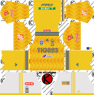 Tigres Uanl 201819 Kit Dream League Soccer Kits Kuchalana