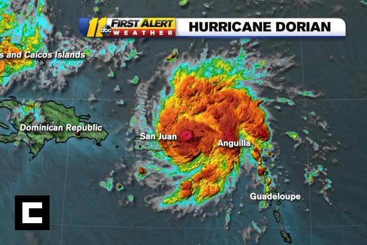 Dorian se convierte en huracán categoría 1