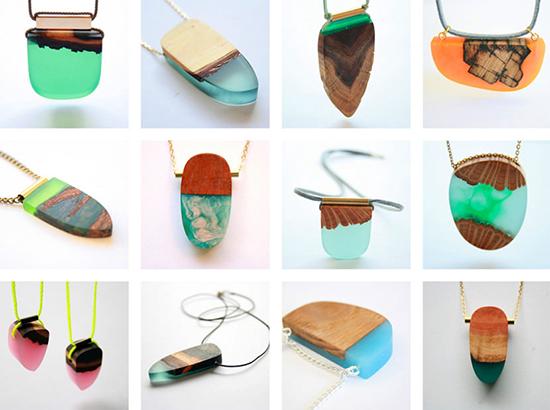 berbagai ide kalung unik dari epoxy resin