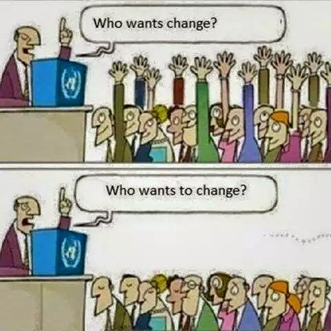 Cartoon on Change