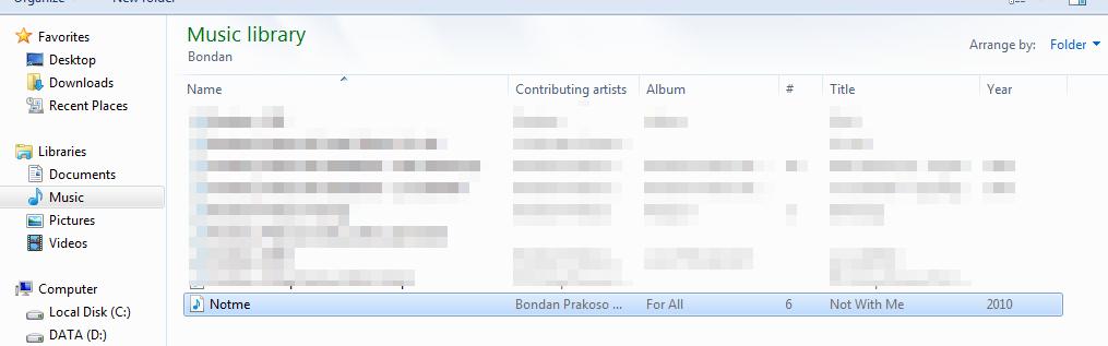 Folder musik