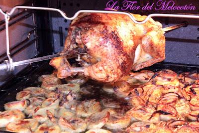 Pollo a l'ast casero