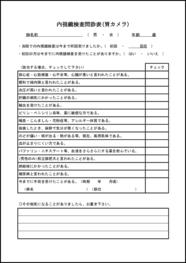 内視鏡検査問診表(胃カメラ) 004