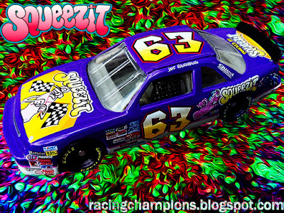 Jake Raudabaugh #63 SqueezIt Chevrolet Action Racing Champions 1/64 NASCAR diecast blog 1997 Squeez It Squeez-It Busch North East