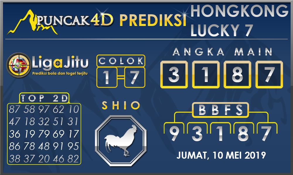 PREDIKSI TOGEL HONGKONG LUCKY7 PUNCAK4D 10 MEI 2019