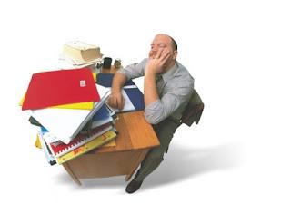 Stresszes dolgozó