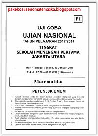 DOWNLOAD SOAL UCUN  JAKARTA UTARA 2018