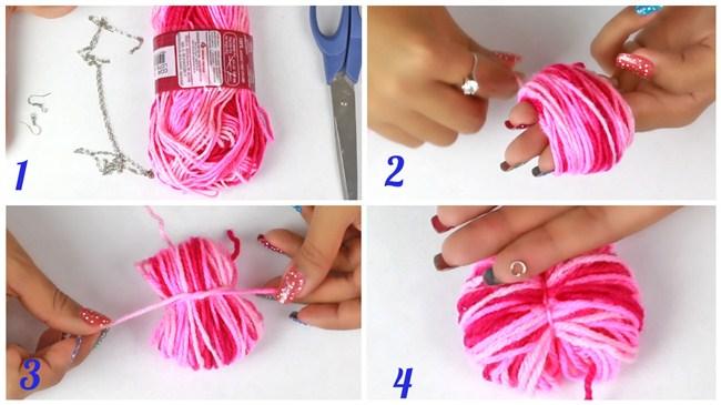 passo-a-passo-pompom-brinco-lã-rosa