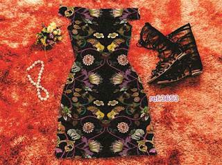 Vestido Moda Blogueira Atacado floral