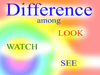 Difference Among verbs look,watch and see