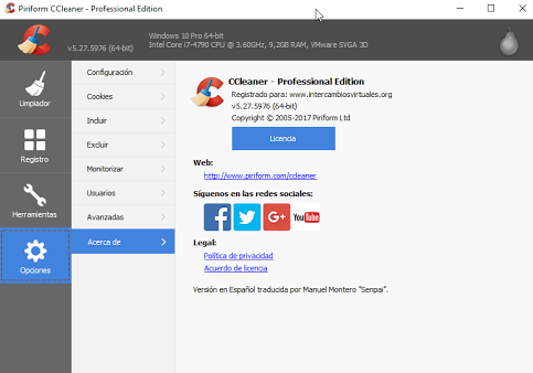 CCleaner v5.27.5976 FREE/PRO/BUSINESS/TECHNICIAN Edition Multilenguaje + Portable