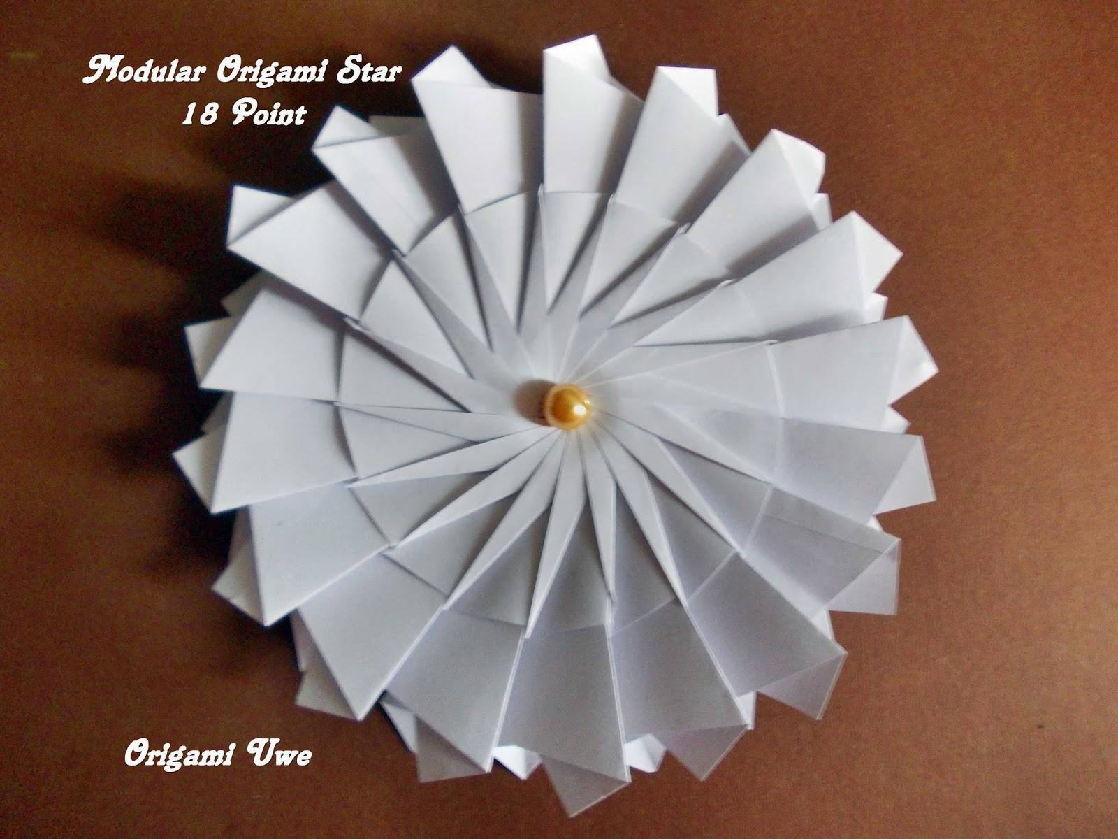 Origami, Fleurogami und Sterne: Modular Origami Star - photo#38