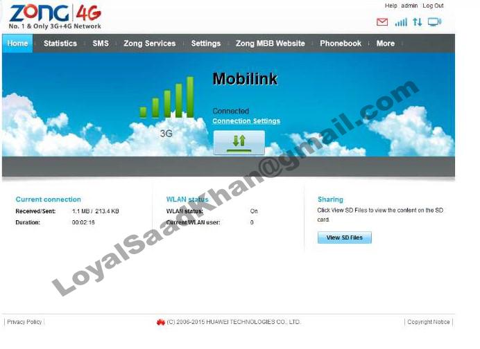 Zong And Warid 4G Huawei Wingle E8372h-153 Unlocking Process - My