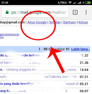 cara cepat mengubah kata sandi gmail yang lupa