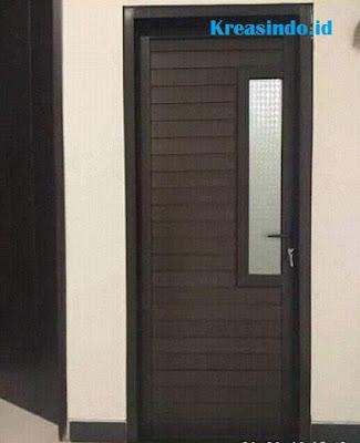 Harga Pintu Aluminium Warna Coklat