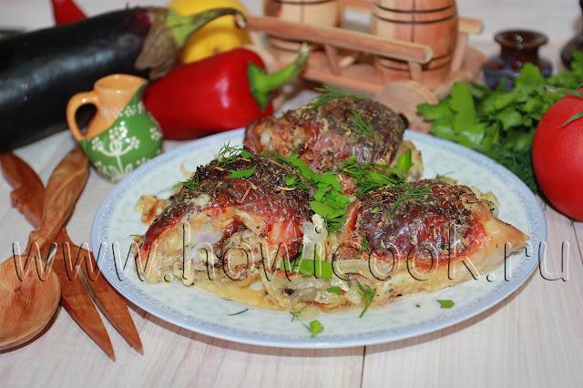 рецепт курицы, маринованная в ряженке и луке с пошаговыми фото