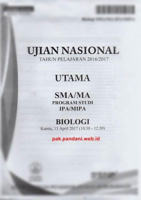 Pembahasan Soal Un Biologi Sma Paket 1 Soal No 1 40 Tahun Pelajaran 2016 2017 Blog Pak Pandani