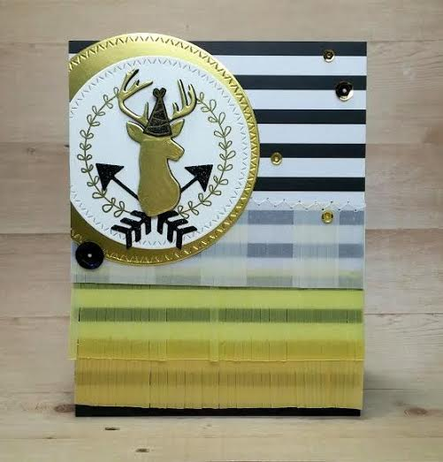 Stag Birthday Card by Naki | Splendid Stag and Points & Plumes die sets by Newton's Nook Designs #newtonsnook
