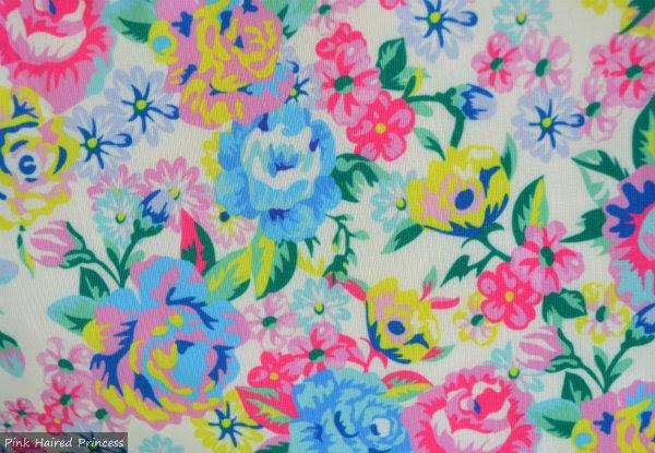 irregular choice disney chip n dale bag floral fabric close up