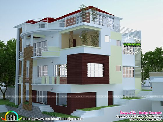 Multi family 4-plex home plan