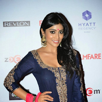 Hot & cute Shriya Saran in beautiful black & pink designer dress images gallery