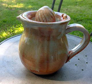 Ceramic Pitcher and Juicer by Lori Buff of Future Relics Gallery